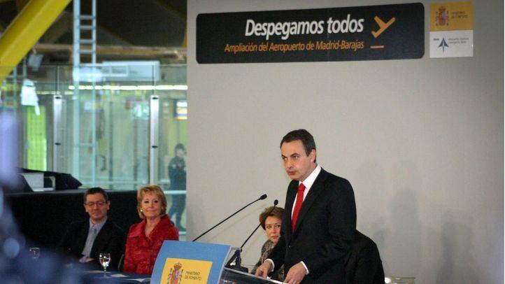 José Luis Rodríguez Zapatero inaugura la T-4.