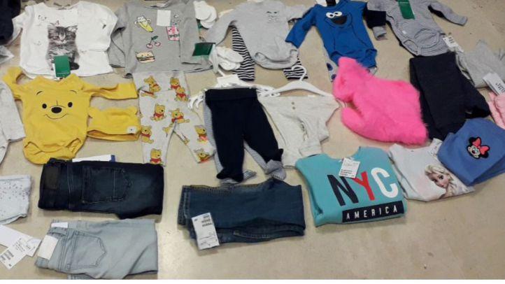 Detenida con 30 prendas de ropa robadas en su barriga falsa de embarazada