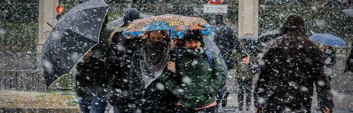 Caos en Madrid por la ola de frío
