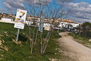 Via pecuaria a su paso por Fuentidueña de Tajo.