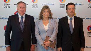 Clemente González Soler, Engracia Hidalgo y Eduardo López-Puertas.