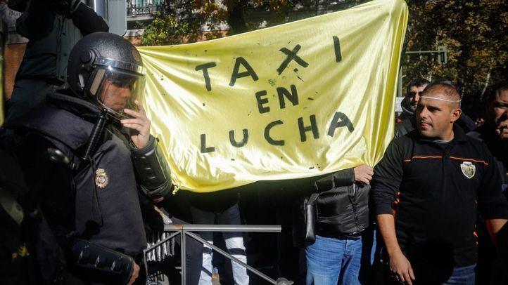 Imagen de archivo de una manifestación de taxistas.