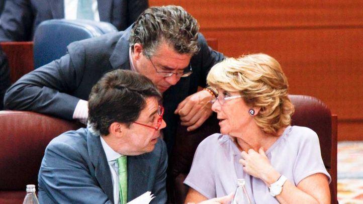 Foto de archivo de Granados, Gonzalez y Aguirre en la Asamblea de Madrid.