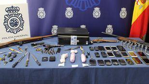 Artículos confiscados por la Policía Nacional