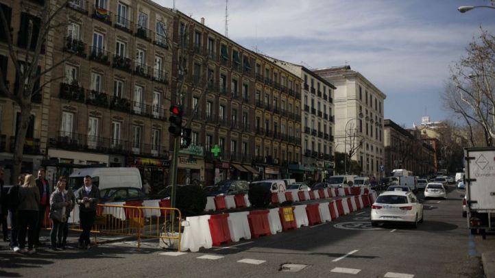 Obras de remodelación en la calle Atocha