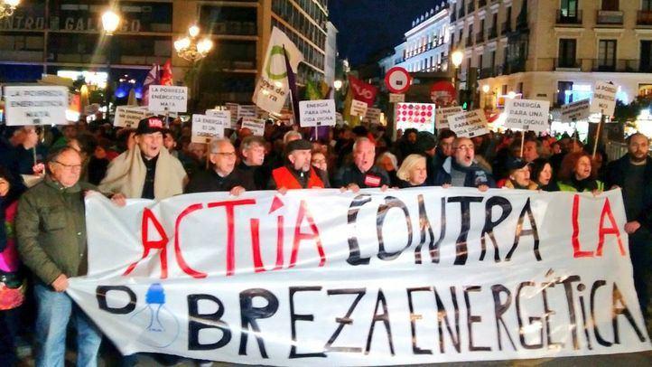 Manifestación contra la pobreza energética