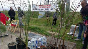 Los vecinos de Carabanchel en la 15ª Arbolada en el Parque Manolito Gafotas.