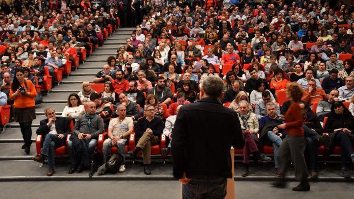 Asamblea de la UGT con motivo de la huelga del 8 de marzo.