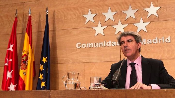 Foto de archivo de Ángel Garrido, tras una reunión del Consejo de Gobierno.
