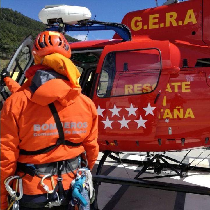 Herido un esquiador tras caerse en la laguna de Peñalara
