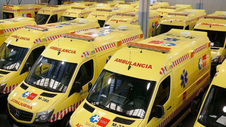 Foto de archivo de ambulancias.