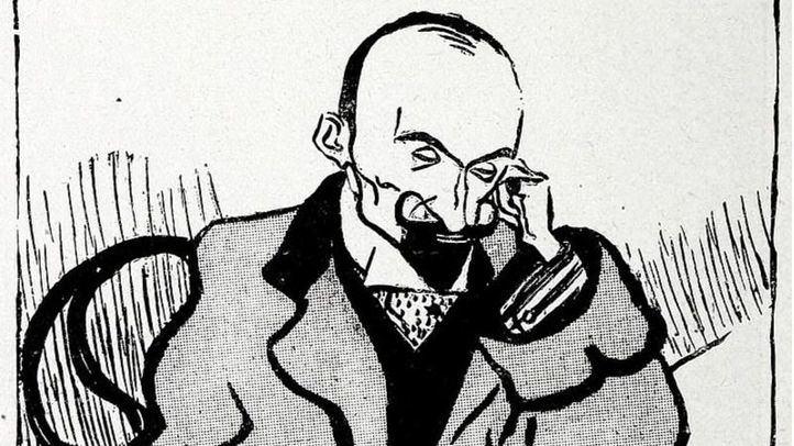 Caricatura de Jacinto Benavente por Sancha.