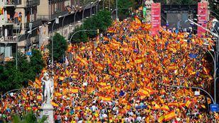 Manifestación convocada por Societat Civil Catalana en Barcelona.
