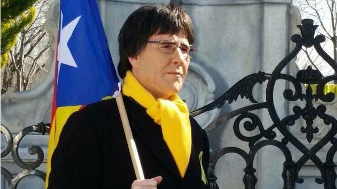 Joaquín Reyes caracterizado como Puigdemont.