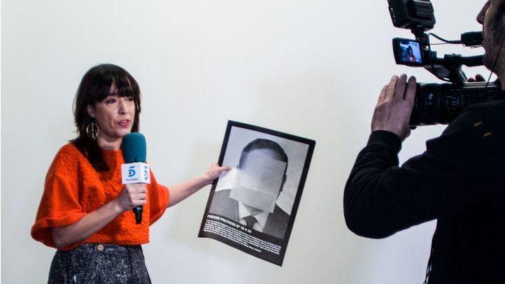 Pared blanca donde estuvo colgada la obra Presos políticos en al España contemporánea del artista Santiago Serra y retirada por Arco.