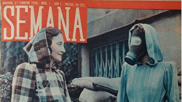 Primera portada de la revista Semana en 1940.