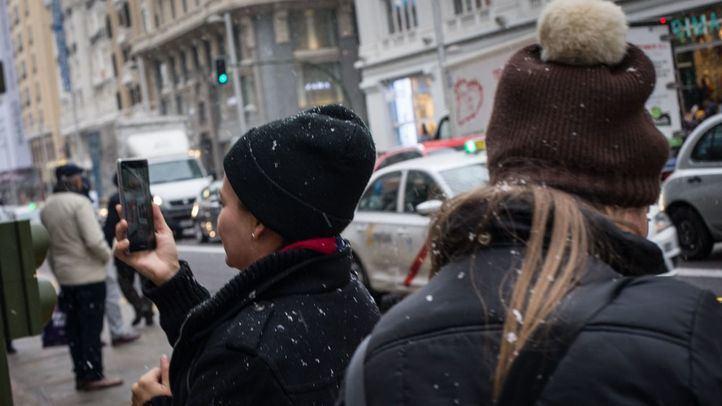 La nevada ha llegado hasta el centro de la capital.