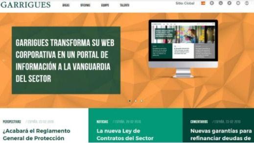 La nueva web de Garrigues se convierte en un portal de información del sector legal