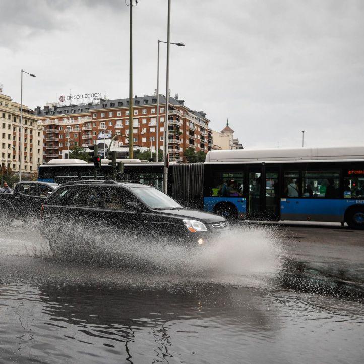 Refuerzo de la gestión del tráfico en la capital por las lluvias
