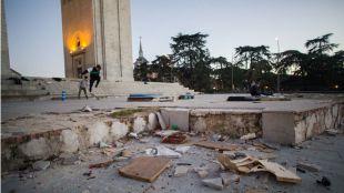 La degradación del Arco de la Victoria que no ve el Consorcio