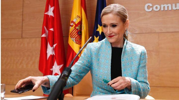 Cristina Cifuentes, tras el Consejo de Gobierno de este martes
