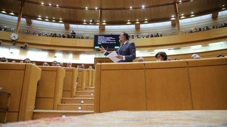 El presidente, en la sesión de control del Senado