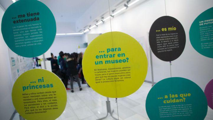Exposición 'Feminismos' en la Junta Municipal de distrito de Tetuán.