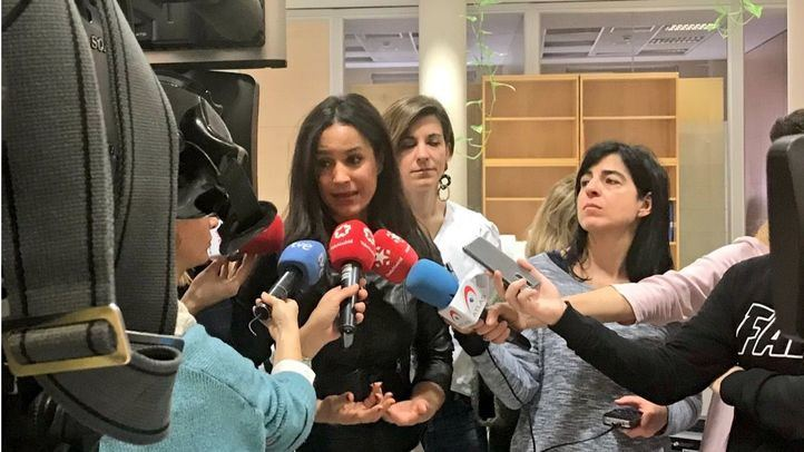 La portavoz de Ciudadanos en el Ayuntamiento de Madrid, Begoña Villacís, hace una valoración de la jornada del 8M