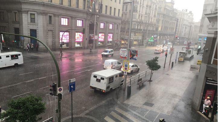 Tormenta en Madrid