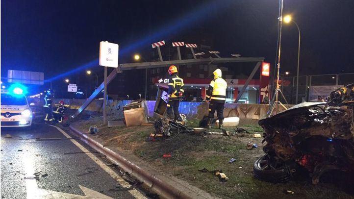 Accidente de tráfico en el Paseo de Extremadura