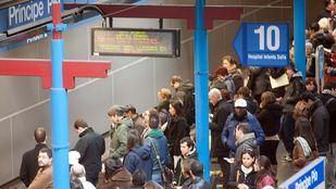 Circula el 72% de los trenes, más de los servicios mínimos