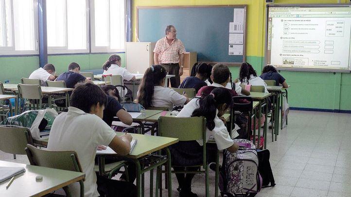 Niños de primaria de un colegio público.