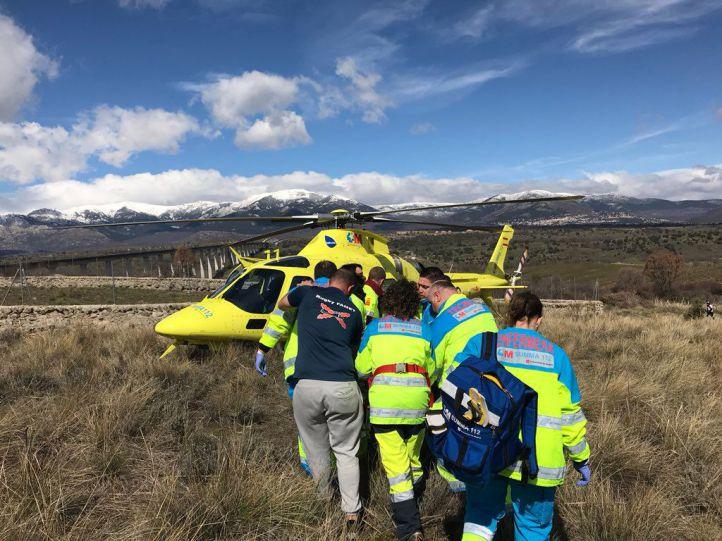 Accidente mortal de moto en Soto del Real