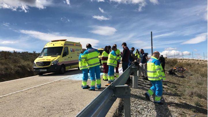 Accidente entre dos motos en Soto del Real