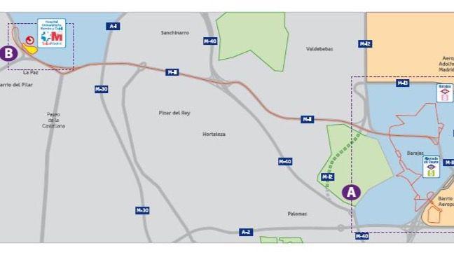 Nuevo autobús entre Barajas y el Hospital Ramón y Cajal