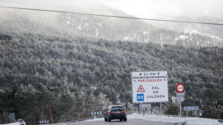 Nieve en la Sierra, en una imagen de archivo.