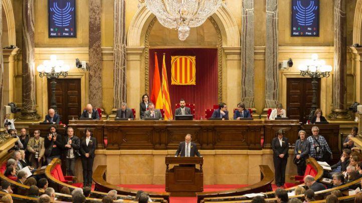 Jordi Turull evita hablar de independencia en su discurso.