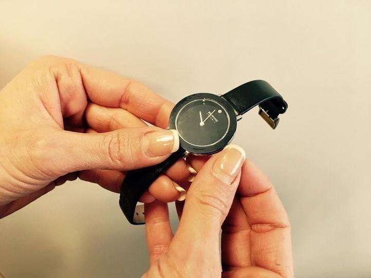 Foto de archivo de un reloj