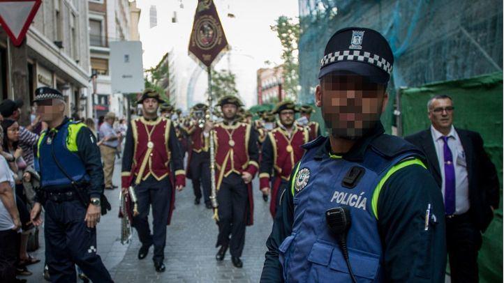 Medidas de seguridad por la Semana Santa en Madrid.
