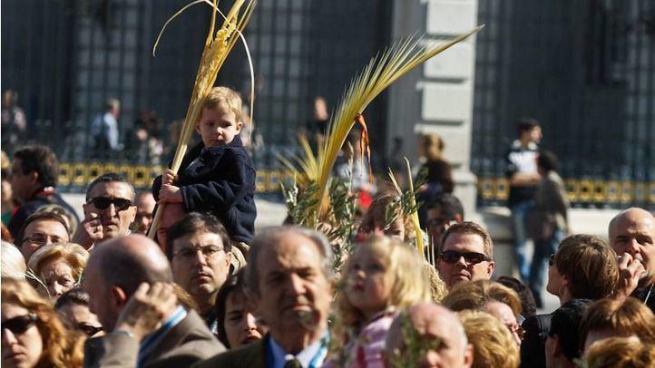 Procesión de los Ramos o Palmas el Domingo de Ramos en Semana Santa.