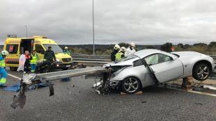 Accidente de tráfico en Villanueva de la Cañada.