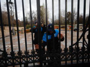Varios parques, cerrados por el temporal