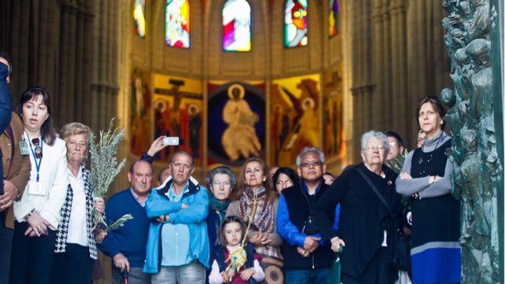 Foto de archivo de la procesión de los Ramos o Palmas el domingo de Ramos en Semana Santa.