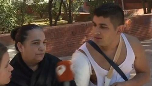 La madre y el cuñado de la víctima, en Espejo Público.