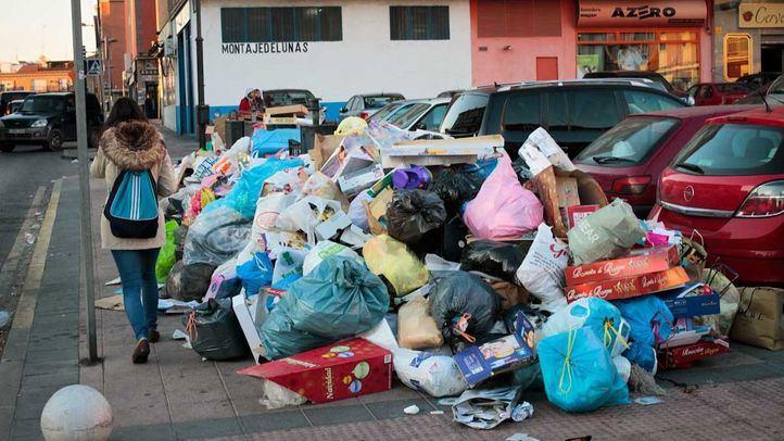 Huelga de recogida de basuras y limpieza viaria de Parla.