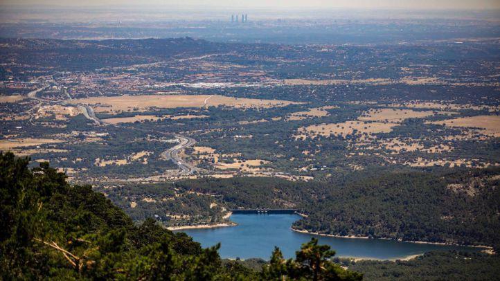 Vista del embalse de La Jarosa desde el Collado de la Mina.