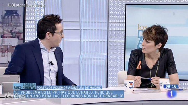 Lorena Ruiz-Huerta, en Los Desayunos, este lunes