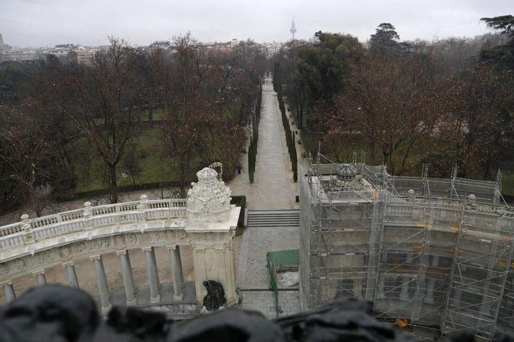 Vistas desde el mirador del Parque del Retiro