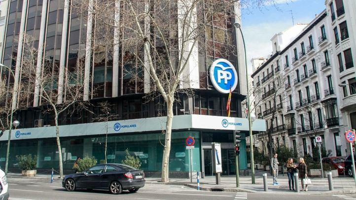 Sede del PP nacional y de Madrid.