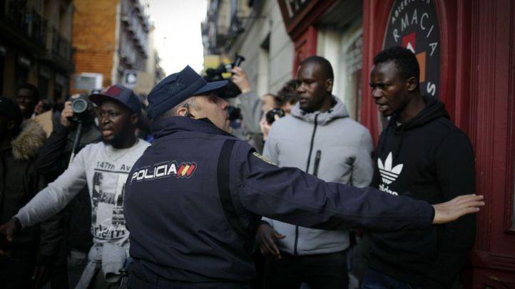 El senegalés golpeado en Lavapiés denuncia a la Policía